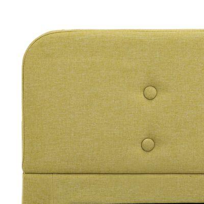 vidaXL Sängram grön tyg 100x200 cm