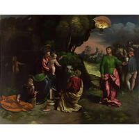 The Adoration of the Kings,Dosso Dossi,50x40cm