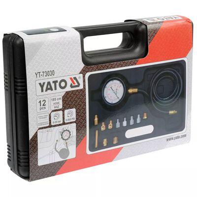 YATO Oljetryckstestare set 12 delar i metall YT-73030