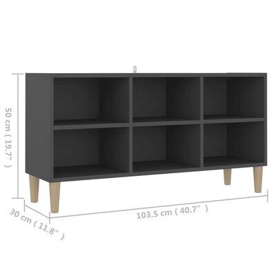 vidaXL TV-bänk med massiva ben grå 103,5x30x50 cm