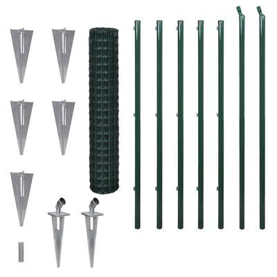 vidaXL Eurofence stål 10x1,5 m grön