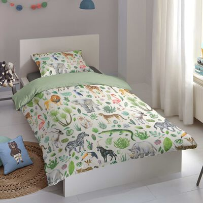Good Morning Bäddset för barn JUNGLE 140x200/220 cm flerfärgat