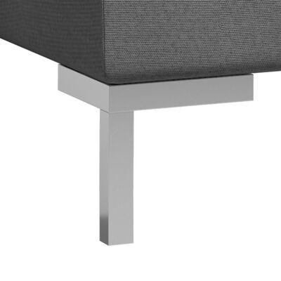 vidaXL Hörnsits till modulsoffa 2 st med dynor tyg mörkgrå