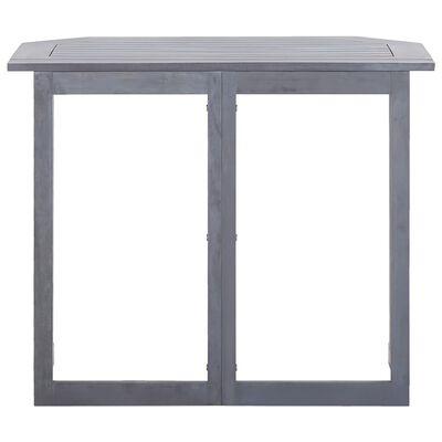 vidaXL Hopfällbart balkongbord 90x50x74 cm massivt akaciaträ