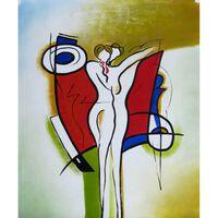 Dans, oljemålning på duk, 50x60 cm
