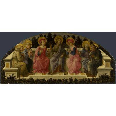Seven Saints,Fra Filippo Lippi,80x36cm