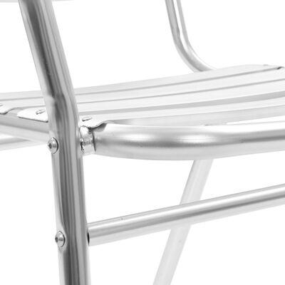 vidaXL Stapelbara trädgårdsstolar 2 st aluminium