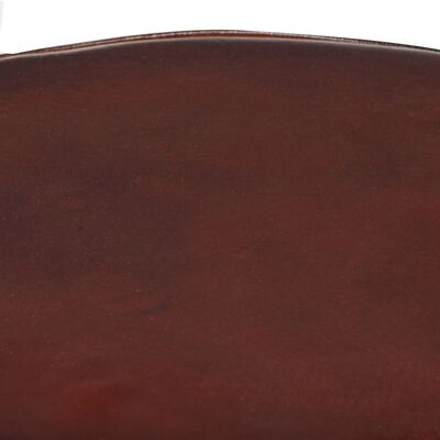 vidaXL Barstolar 2 st 52 cm äkta läder