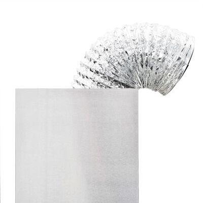 vidaXL Väggmonterad köksfläkt rostfritt stål 756 m³/h 90 cm vit