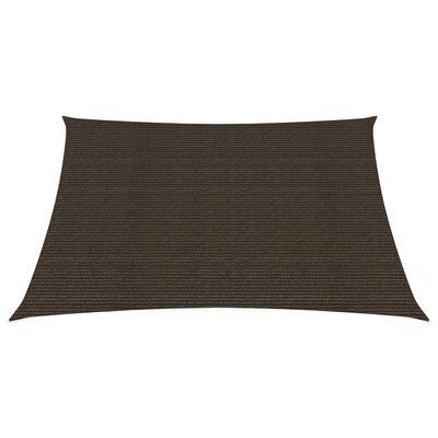 vidaXL Solsegel 160 g/m² brun 4x4 m HDPE