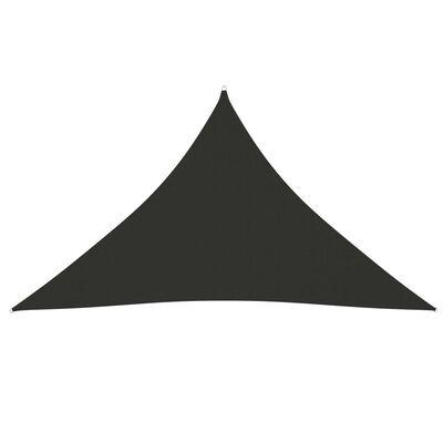 vidaXL Solsegel oxfordtyg trekantigt 3,5x3,5x4,9 m antracit