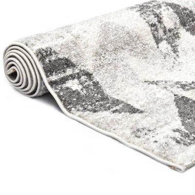 vidaXL Matta grå och vit 140x200 cm PP