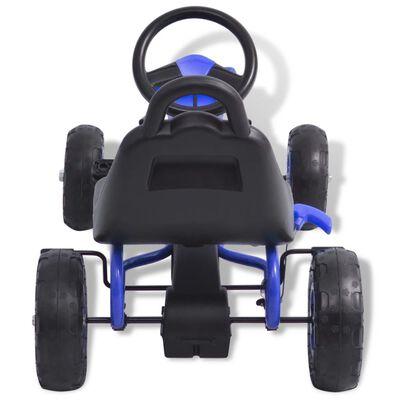 vidaXL Pedaldriven gokart med luftfyllda däck blå