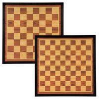 Abbey Game Schackbräde och damspel 41x41cm trä brun och beige