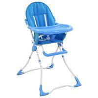vidaXL Barnstol blå och vit