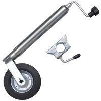 Stödhjul för släpvagn med 1 klämma 48 mm
