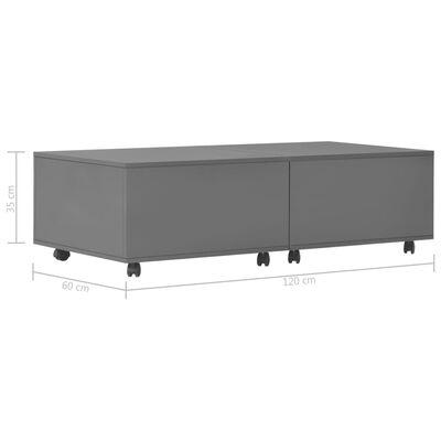 vidaXL Soffbord grå högglans 120x60x35 cm