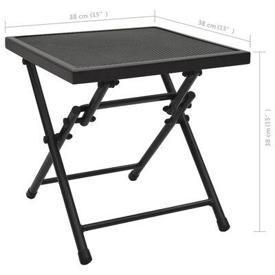 vidaXL Hopfällbart meshbord 38x38x38 cm stål antracit