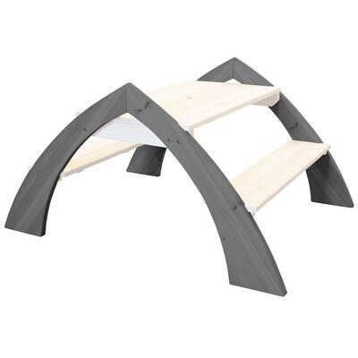 AXI Picknickbord för barn Kylo grå och vit A031.021.00