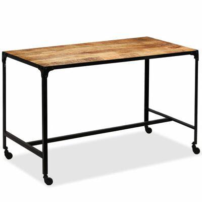 vidaXL Matbord massivt mangoträ och stål 120x60x76 cm
