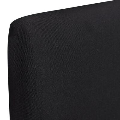 vidaXL Rakt elastiskt stolsöverdrag 4 st svart