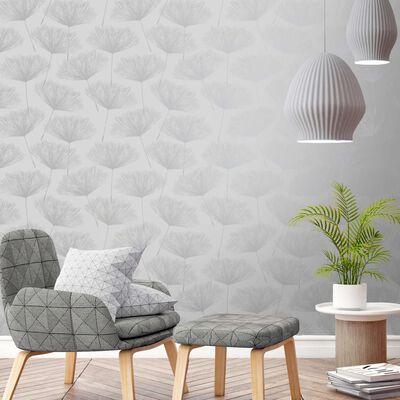 DUTCH WALLCOVERINGS Tapet Fleur grå