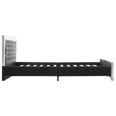 vidaXL Sängram svart konstläder 180x200 cm