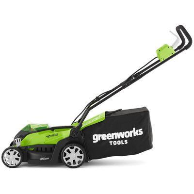 Greenworks Gräsklippare med 2x40 V 2 Ah-batterier G40LM35 2501907UC