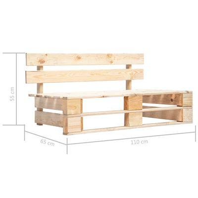 vidaXL Pallbänk för trädgården trä