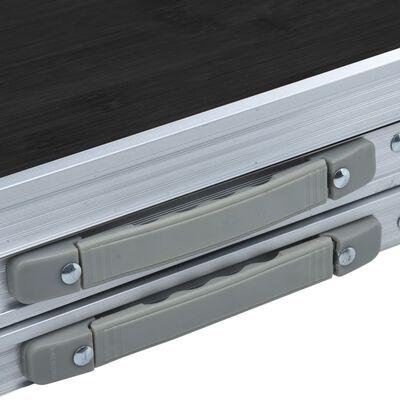 vidaXL Hopfällbart campingbord grå aluminium 180x60 cm