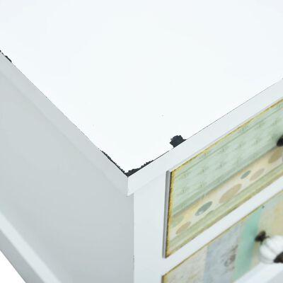vidaXL TV-bänk med lådor vit 120x30x40 cm MDF