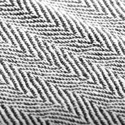 vidaXL Filt bomull fiskbensmönster 160x210 cm marinblå