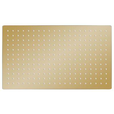 vidaXL Regnduschhuvud rostfritt stål 50x30 cm rektangulärt guld