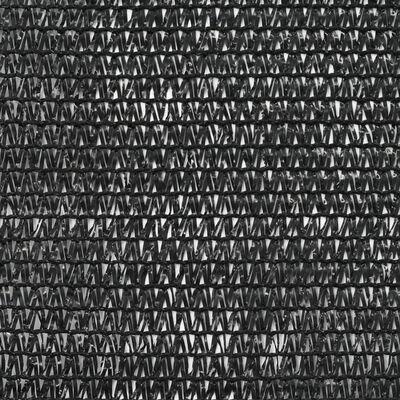 vidaXL Vindskydd för tennisplan HDPE 1,8x50 m svart