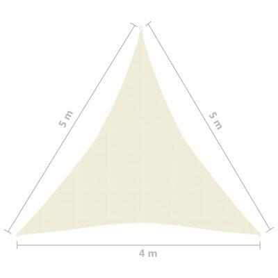 vidaXL Solsegel 160 g/m² gräddvit 4x5x5 m HDPE