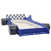 vidaXL Barnsäng racerbil 90x200 cm blå