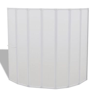 Duschvägg 140x168 cm 7-paneler vikbar inkl. handdukshängare