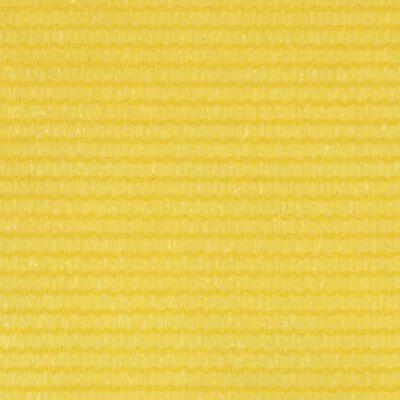 vidaXL Balkongskärm gul 120x500 cm HDPE