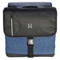 Willex Dubbel affärsväska 46 L svart och blå