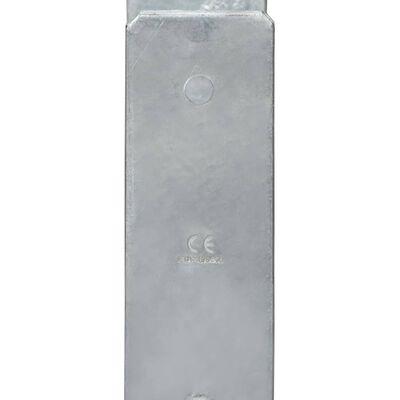 vidaXL Jordankare 2 st silver 12x6x60 cm galvaniserat stål