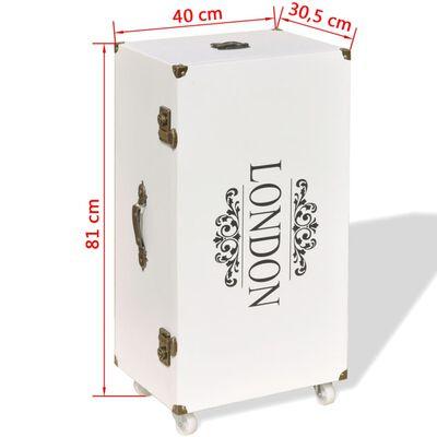 vidaXL Sidoskåp väska 40x30,5x81 cm vit