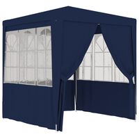 vidaXL Professionellt partytält med väggar 2x2 m blå 90 g/m²