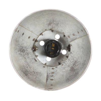 vidaXL Industriell vägglampa silver 90x25 cm E27