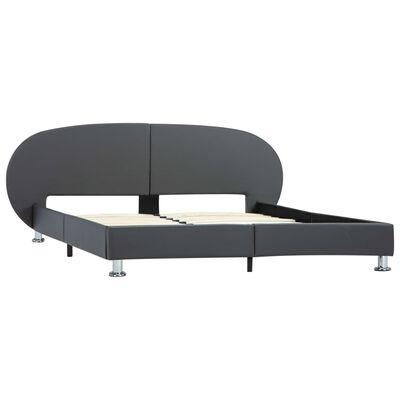 vidaXL Sängram grå konstläder 120x200 cm
