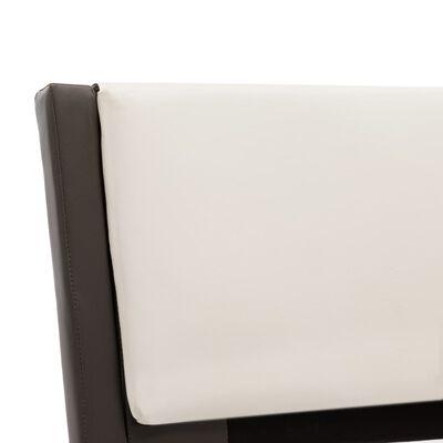vidaXL Sängram grå och vit konstläder 90x200 cm