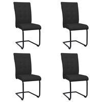 vidaXL Fribärande matstolar 4 st svart tyg
