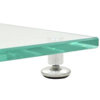 vidaXL Högtalarstativ 2 st härdat glas pelardesign silver