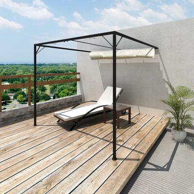 vidaXL Paviljong mot vägg med justerbart soltak