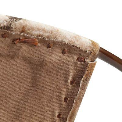 vidaXL Stol diamant brun äkta läder