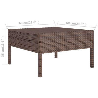 vidaXL Loungegrupp för trädgården med dynor 10 delar konstrotting brun, Brown